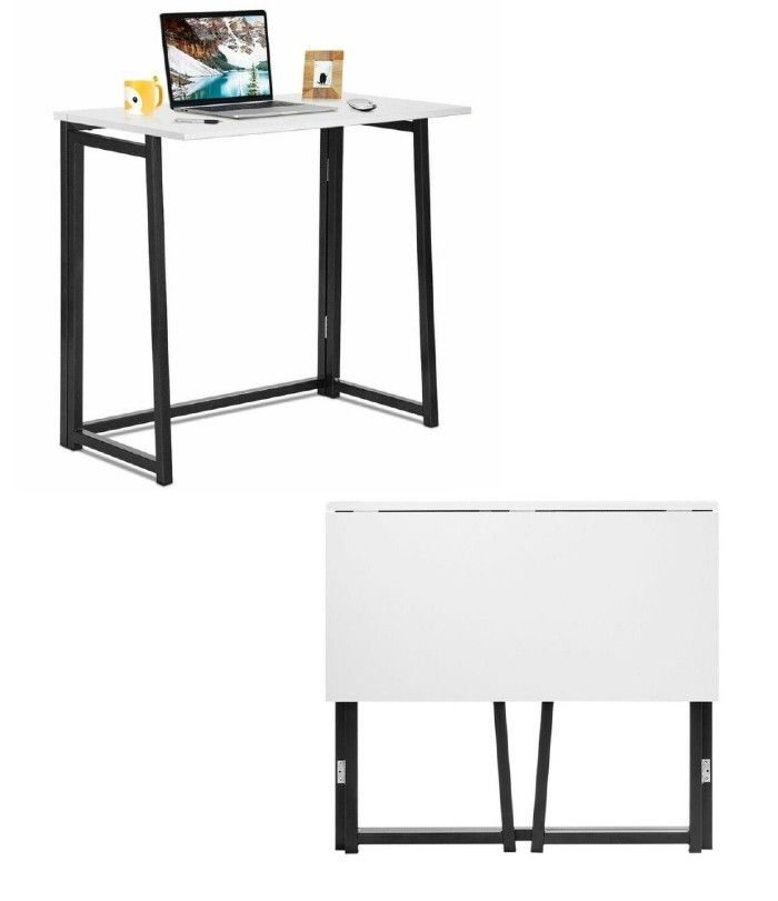 white foldable desk - 18 fabulous desks that are ideal for small spaces