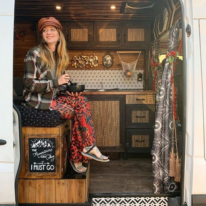 campervan girl 12 - Theresa turned a Mercedes-Benz Sprinter into a spectacular campervan