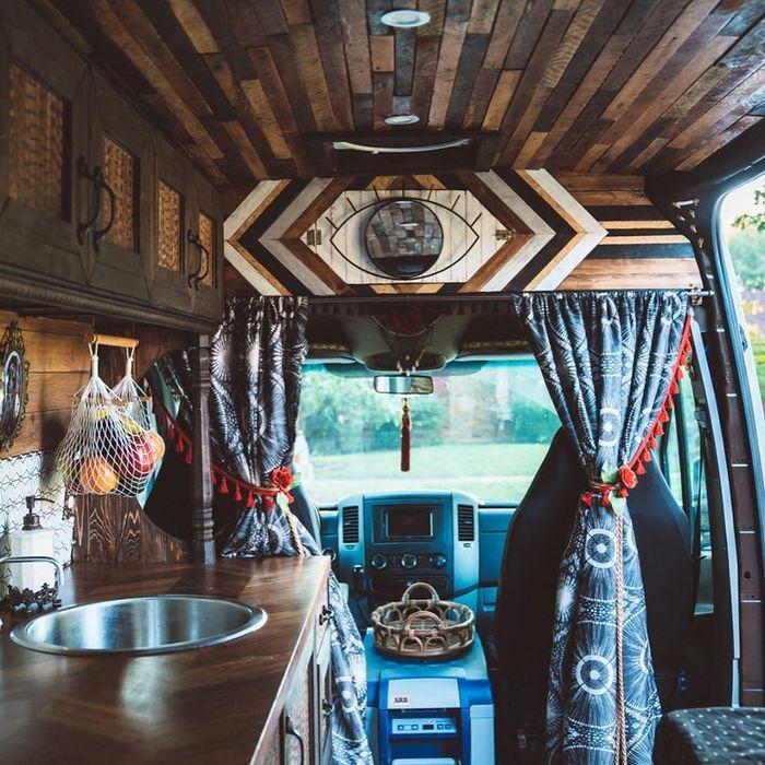 campervan girl 9 - Theresa turned a Mercedes-Benz Sprinter into a spectacular campervan