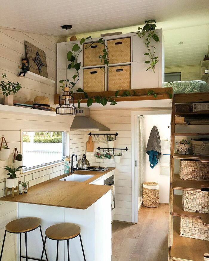 girl tiny house 11 - 150-square-foot tiny house built for travelling Australia