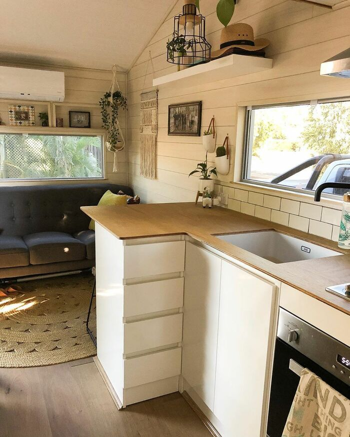 girl tiny house 12 - 150-square-foot tiny house built for travelling Australia