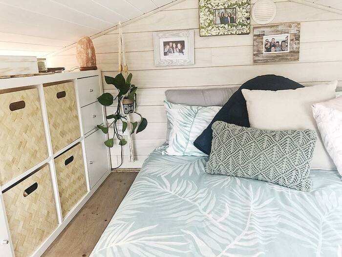 girl tiny house 6 - 150-square-foot tiny house built for travelling Australia