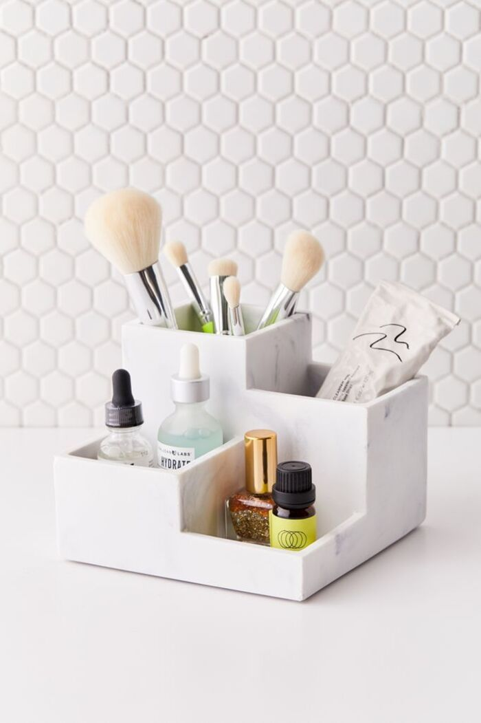 marble - 22 fabulous ideas for organizing your small bathroom