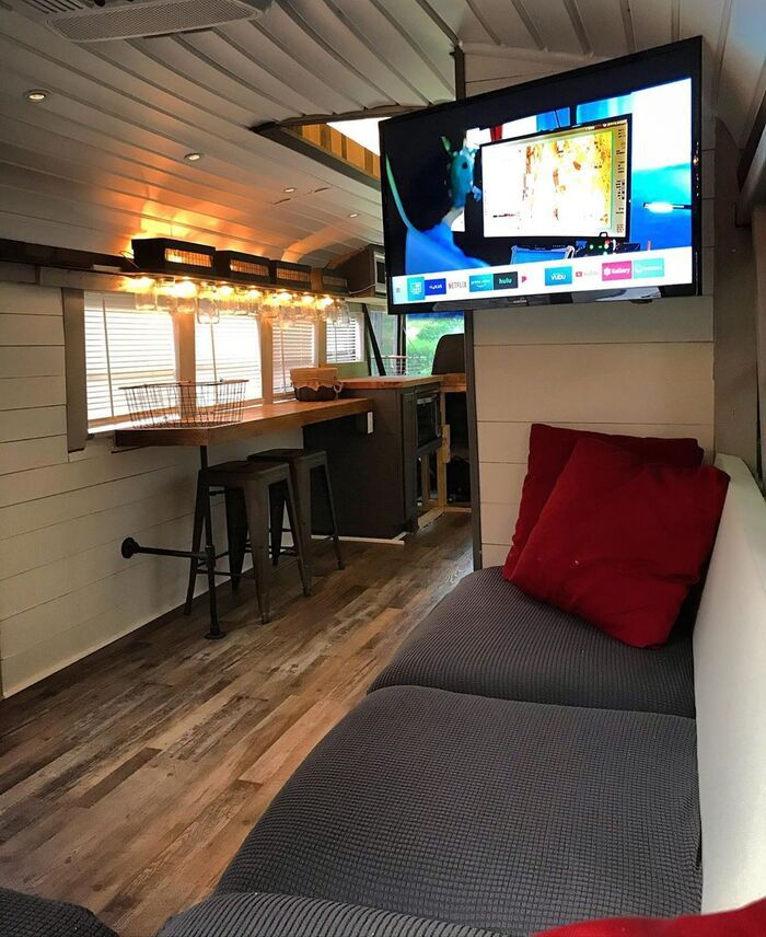 roamer bus conversion 2 - Caleb and friends converted old school bus into a lovely mobile home on $10K budget