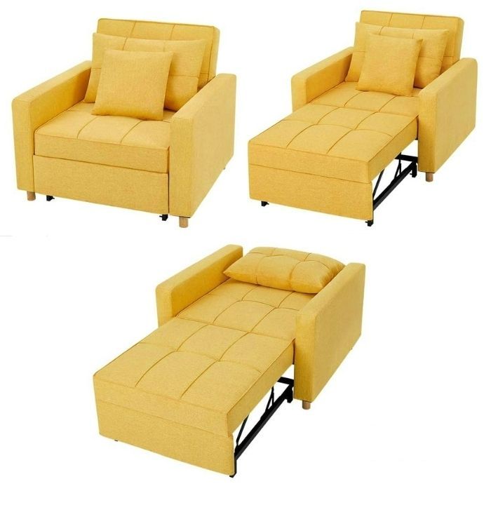 sleeper chair lounger yellow - 12 convertible chair beds that go from seating to sleeping in seconds
