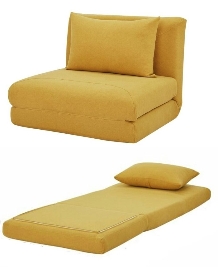 sleeper chair yellow 3 - 12 convertible chair beds that go from seating to sleeping in seconds