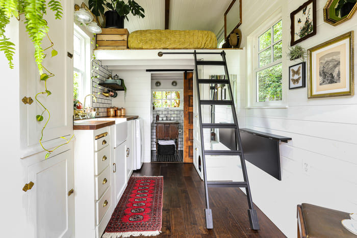 tiny house interior design 1 - Take a tour of this designer's maximalist 175 square-foot tiny house