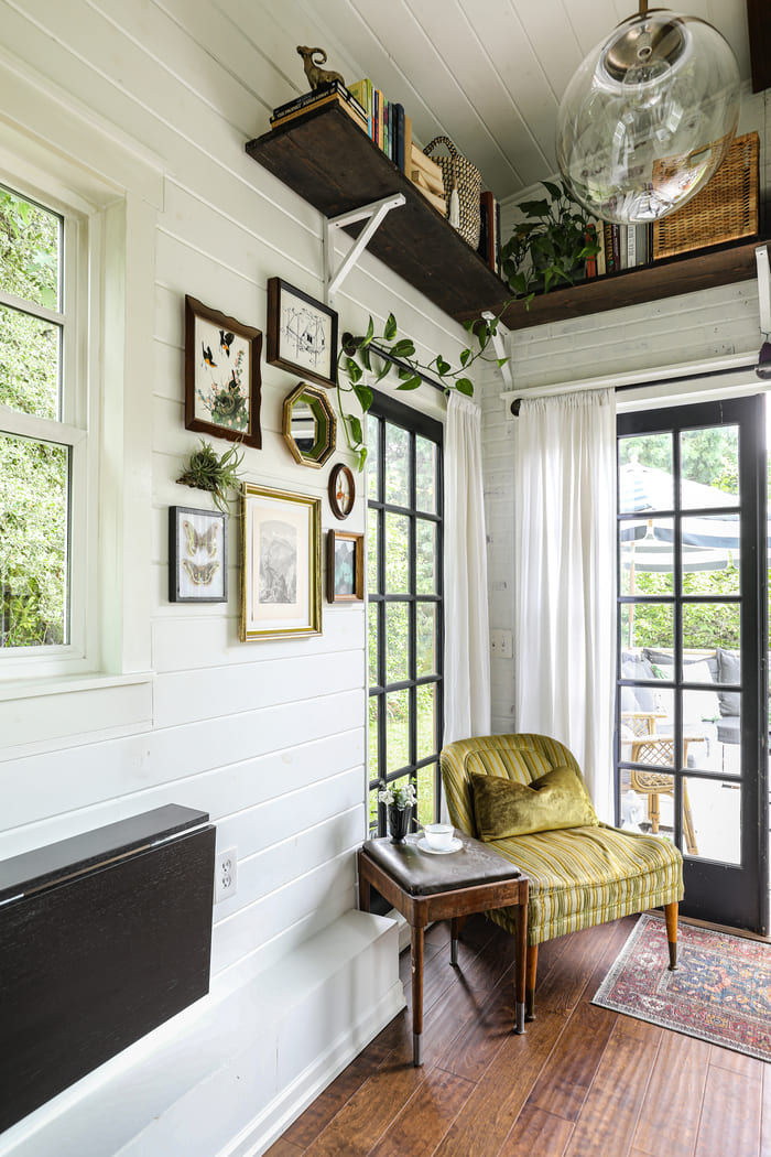 tiny house interior design 8 - Take a tour of this designer's maximalist 175 square-foot tiny house