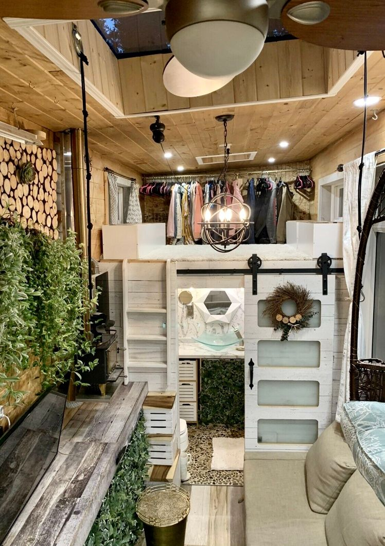 tiny house sale 1 2 - This spectacular tiny house exudes rustic charm. And it's for sale right now