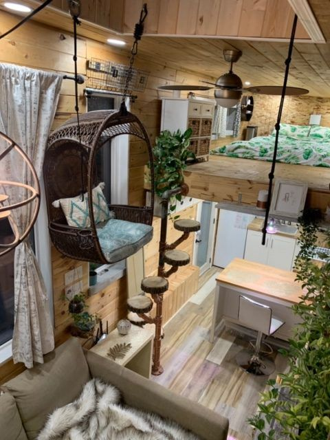 tiny house sale 3 1 rotated - This spectacular tiny house exudes rustic charm. And it's for sale right now