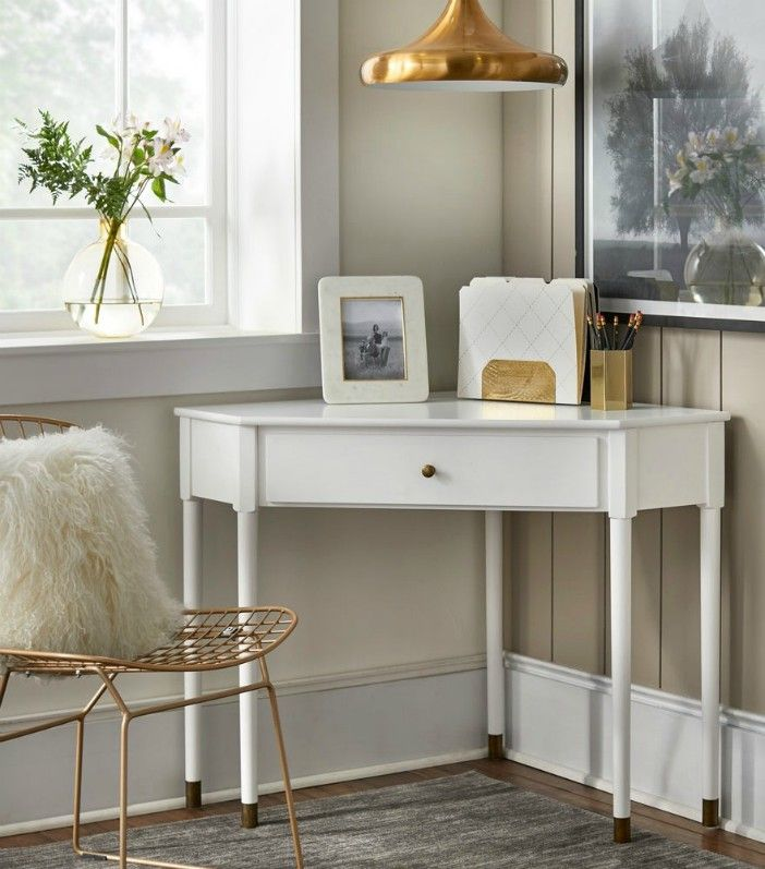 Lifestorey Mesa Mid Century Corner Desk - 20 stylish desk ideas for small spaces