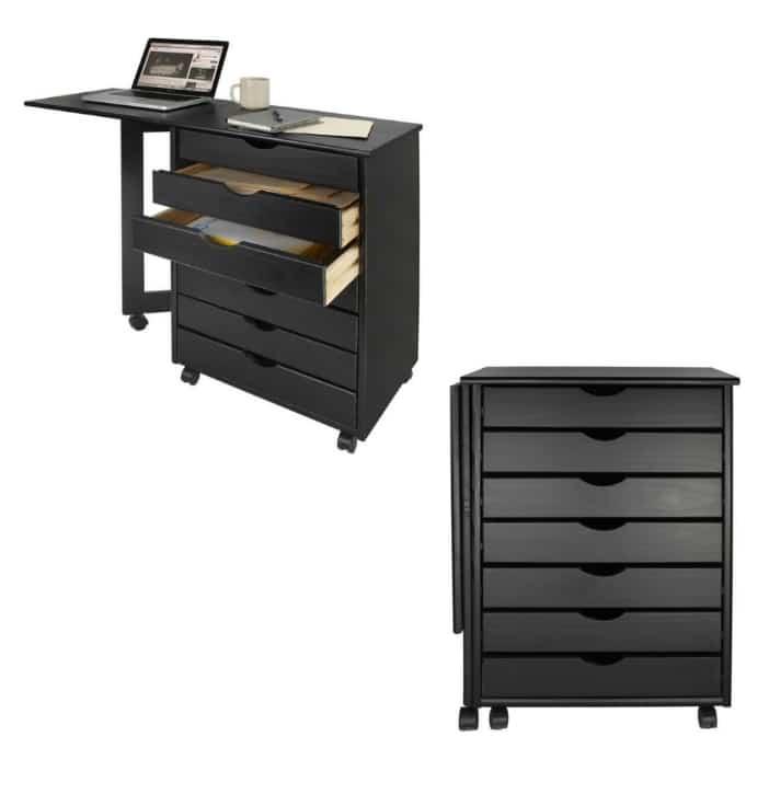 black desk 1 - 20 stylish desk ideas for small spaces