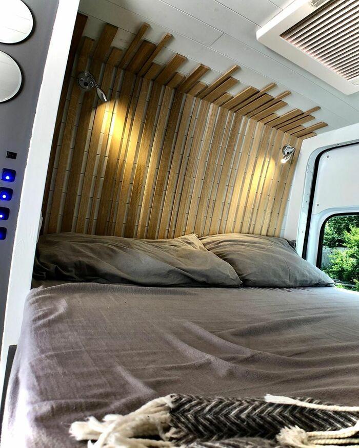 campervan 11 - Furniture maker converts builder's van into luxurious camper during COVID-19 lockdown