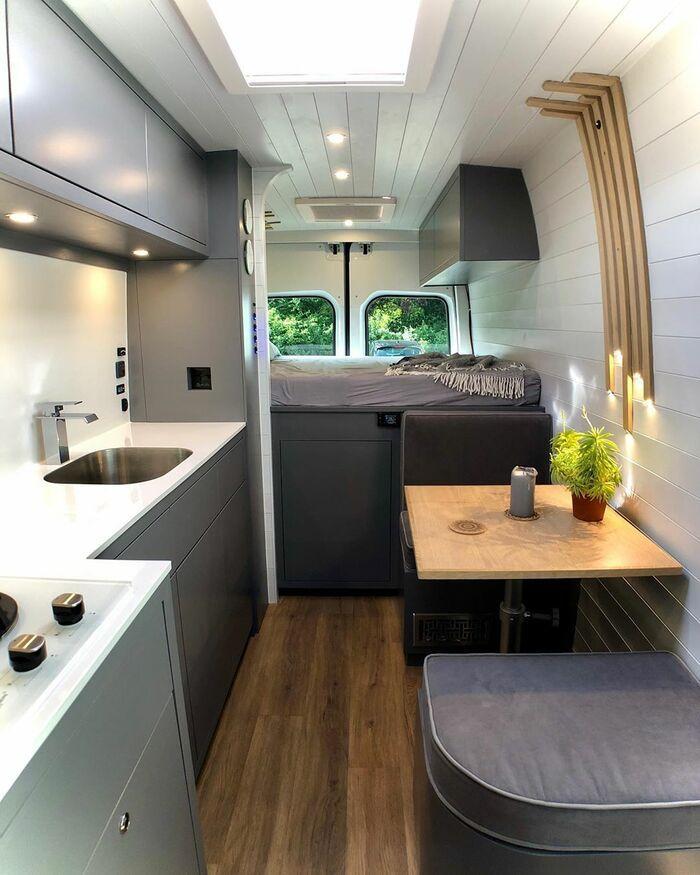 campervan 12 - Furniture maker converts builder's van into luxurious camper during COVID-19 lockdown
