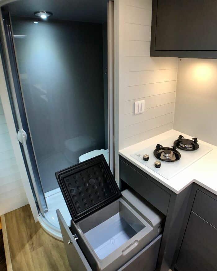 campervan 4 - Furniture maker converts builder's van into luxurious camper during COVID-19 lockdown