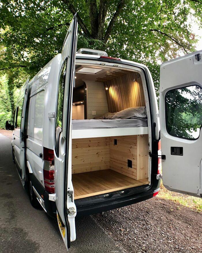 campervan 9 - Furniture maker converts builder's van into luxurious camper during COVID-19 lockdown