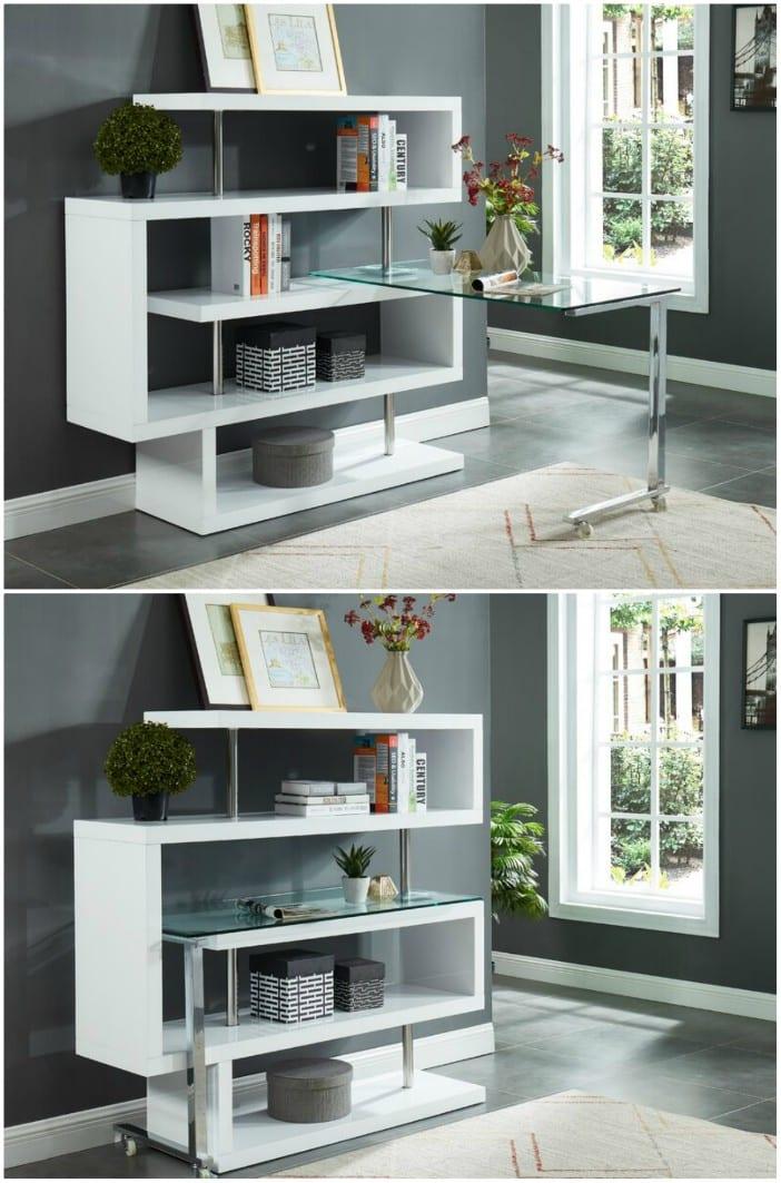 desk glass white alexa - 20 stylish desk ideas for small spaces