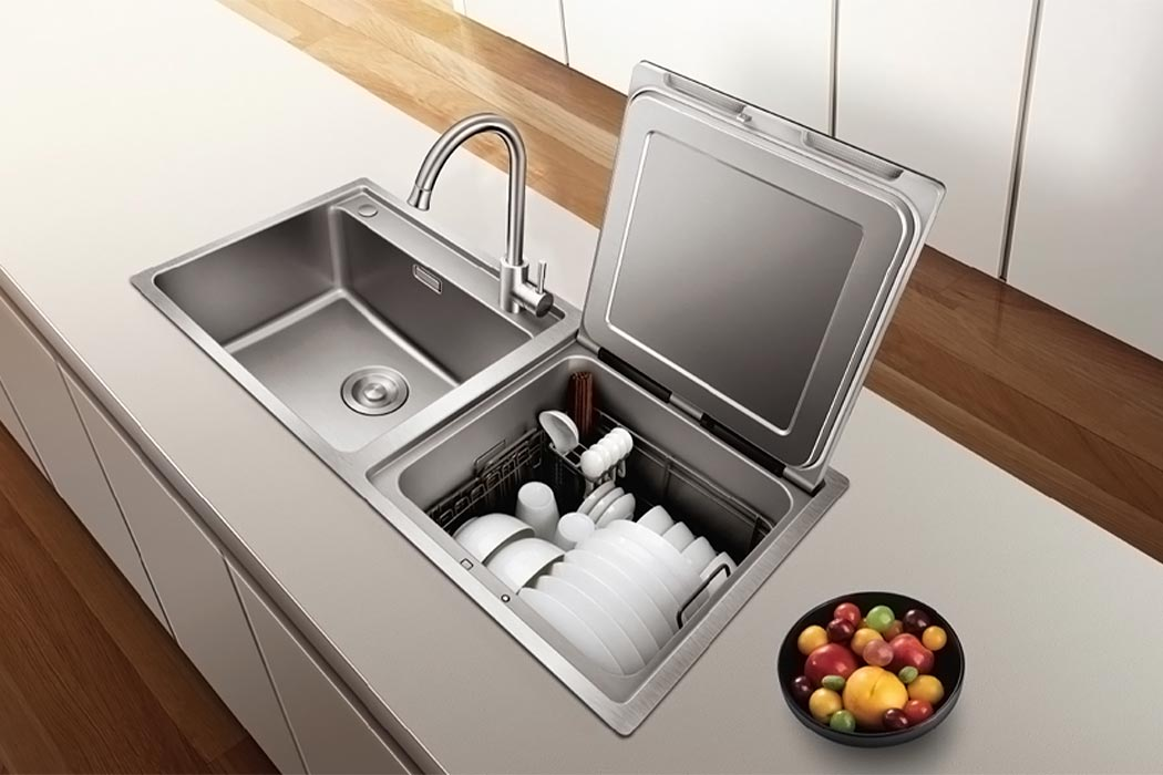 fotile dishwasher 7 - Space-saving in-sink dishwasher does double duty as produce cleaner