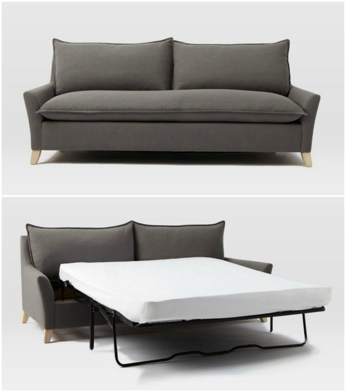 grey sleeper sofa - 16 stunning sleeper sofas that combine style and function