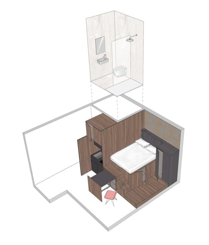 micro apartment blicboc 18 - London micro-apartments boast ingenious space-saving solutions