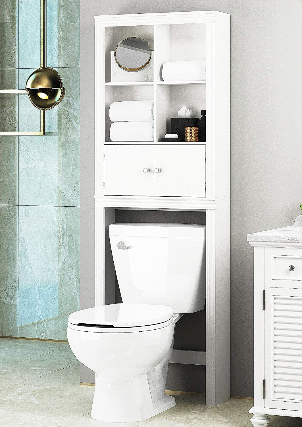 over the toilet storage - 22 fabulous ideas for organizing your small bathroom