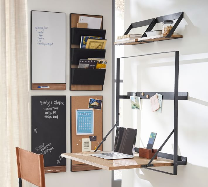 trenton wall mount office solution o - 20 stylish desk ideas for small spaces