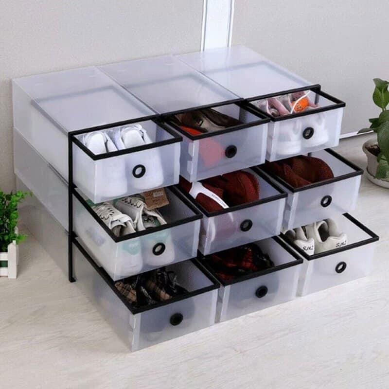 BoxCaseSneakerPlastic20PairShoeStorageBox - 20 clever shoe storage ideas for clutter-free living