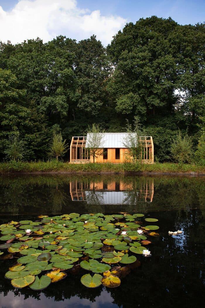 cabin slides apart 19 - Sliding walls make this Dutch cabin a transforming wonder