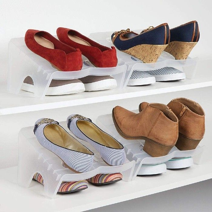 double shoe stacker 1 - 20 clever shoe storage ideas for clutter-free living