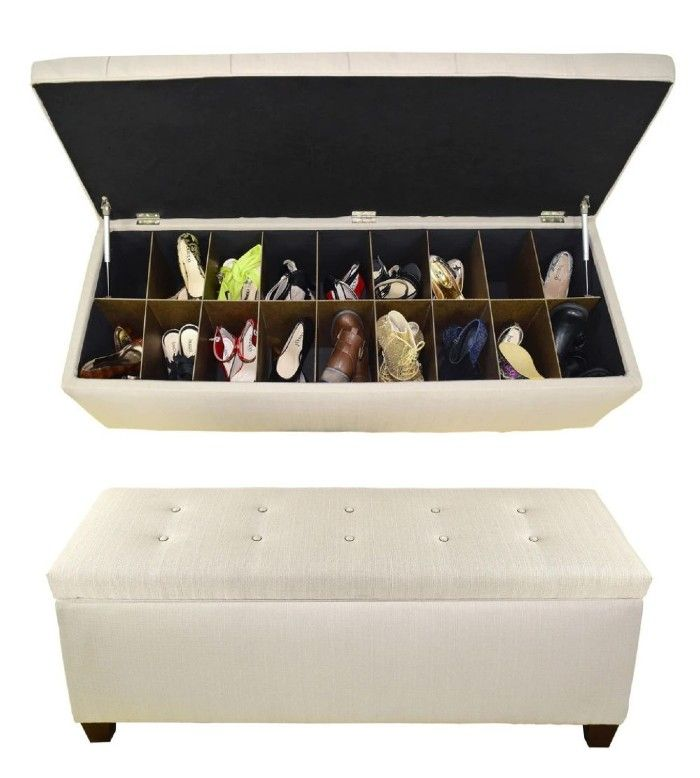 shoe ottoman 1 - 20 clever shoe storage ideas for clutter-free living