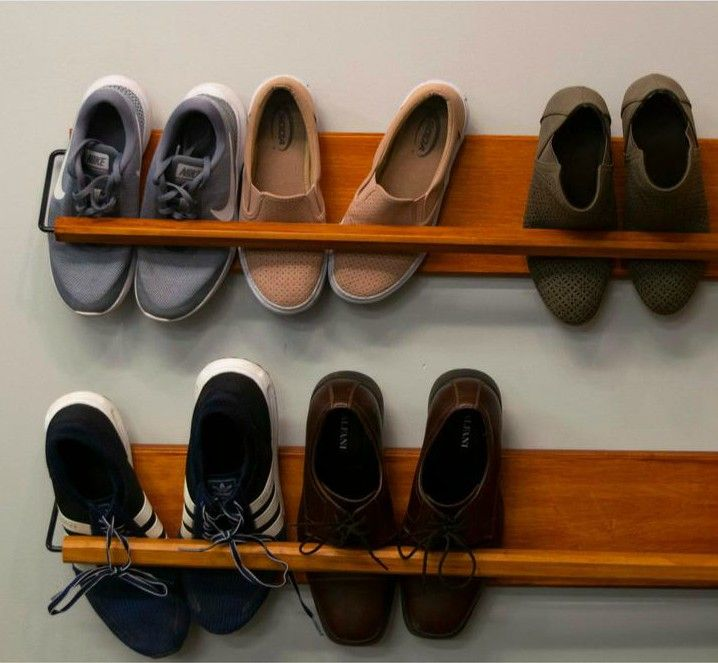wall mounted shoe rack - 20 clever shoe storage ideas for clutter-free living