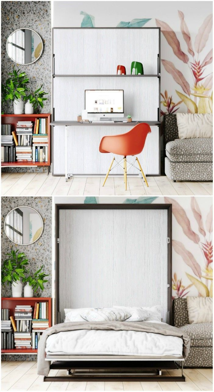 wall bed with desk - Ten brilliant wall beds for small spaces