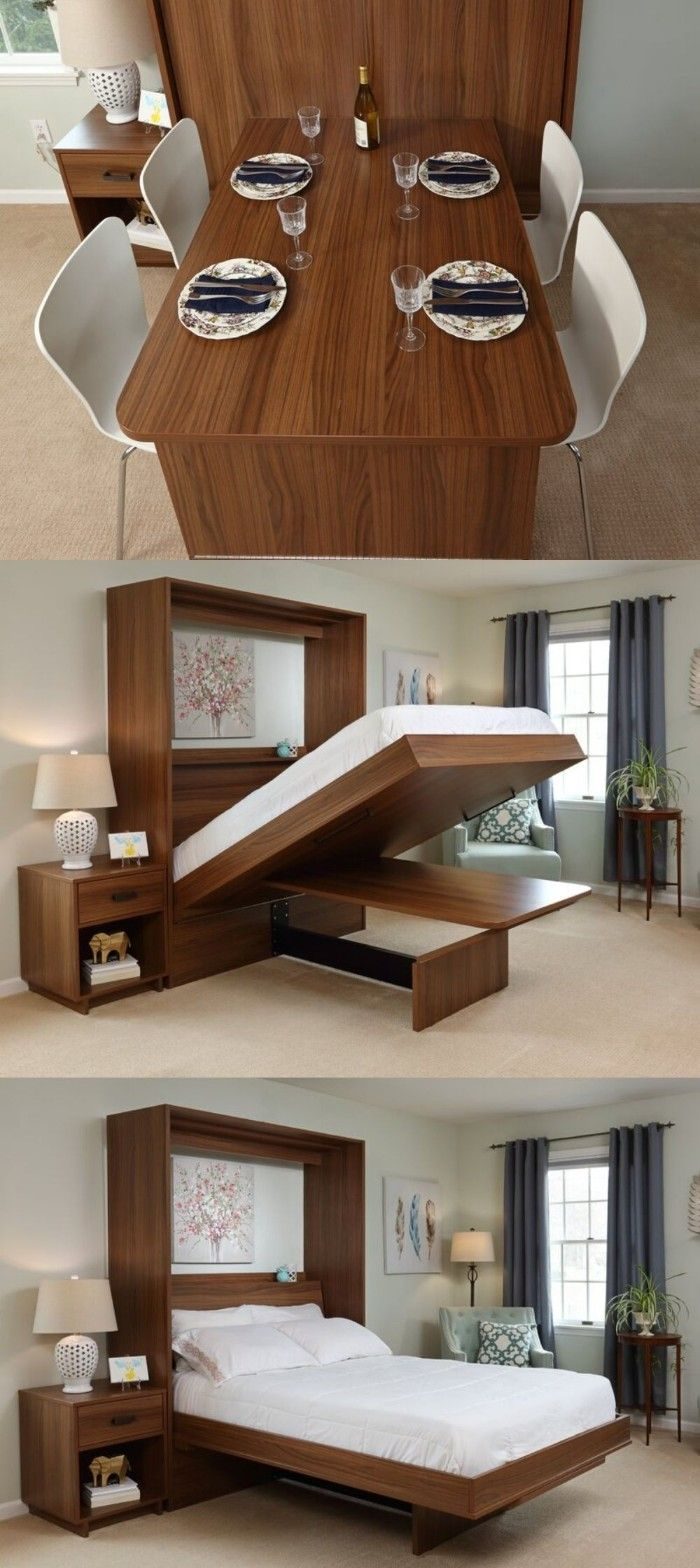 wall bed dining table 1 - Ten brilliant wall beds for small spaces