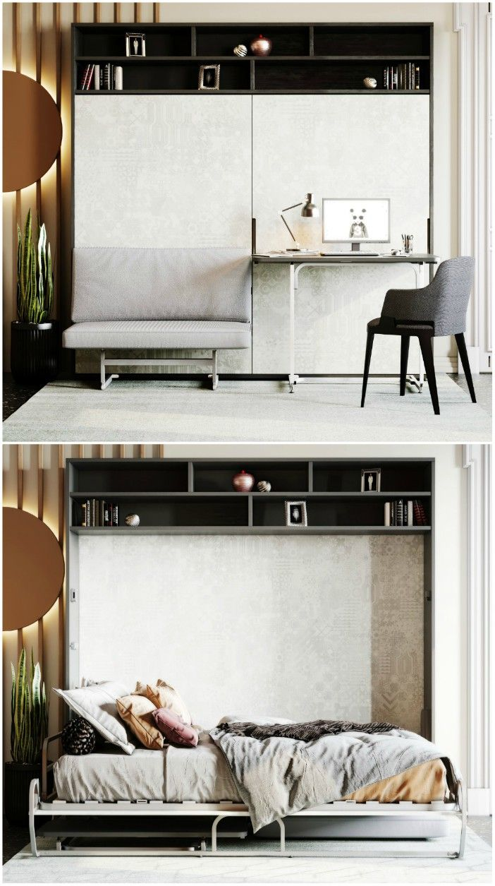 wall bed sofa desk - Ten brilliant wall beds for small spaces