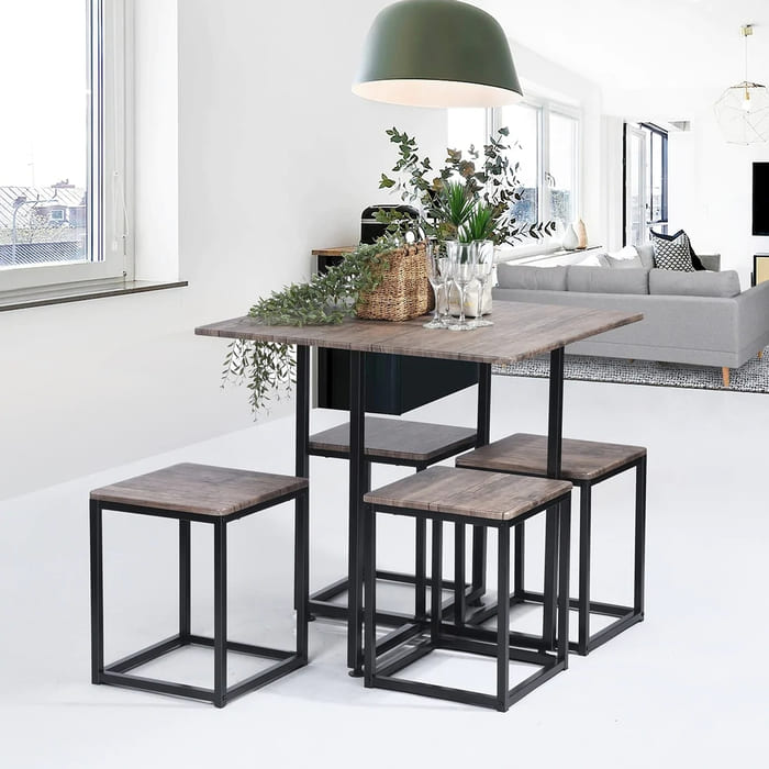 Carbon Loft Manila 5 piece Dining Table Set 49c14845 cbfb 4292 9500 334871ab78a0 1000 - 27 amazing dining table ideas for small spaces
