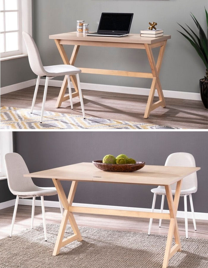 dining table console 1 - 27 amazing dining table ideas for small spaces