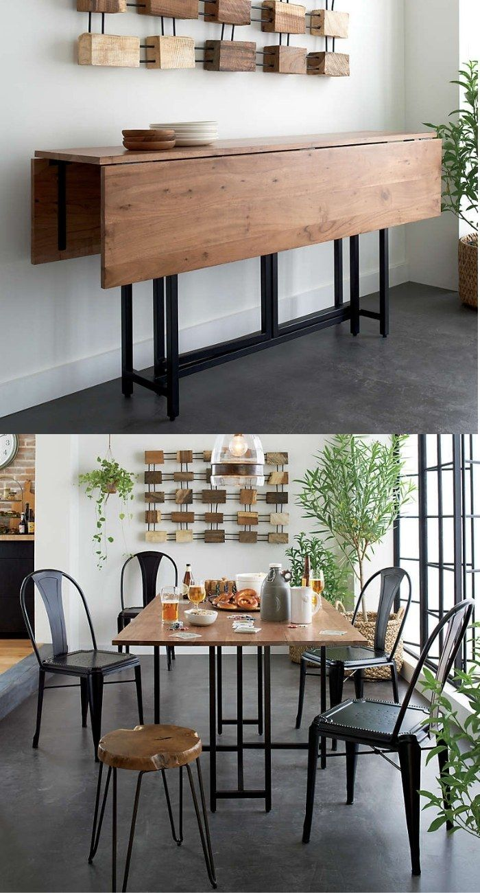 dining table console - 27 amazing dining table ideas for small spaces
