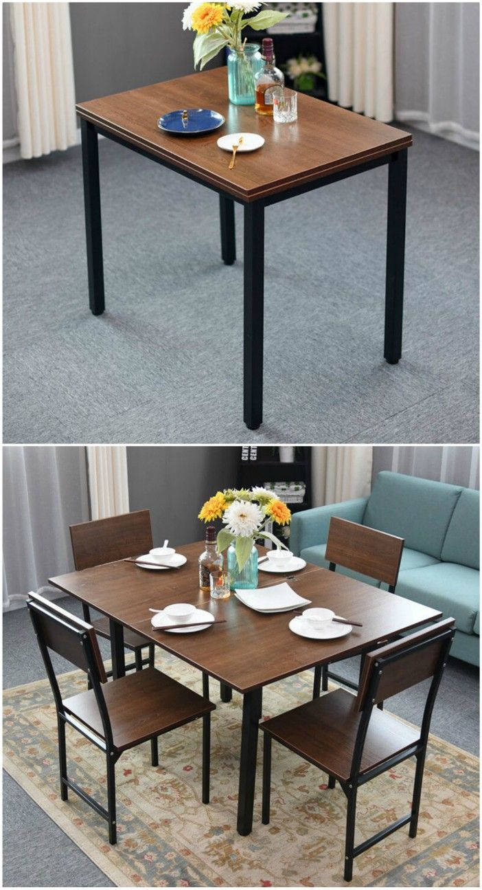 extendable dining table - 27 amazing dining table ideas for small spaces