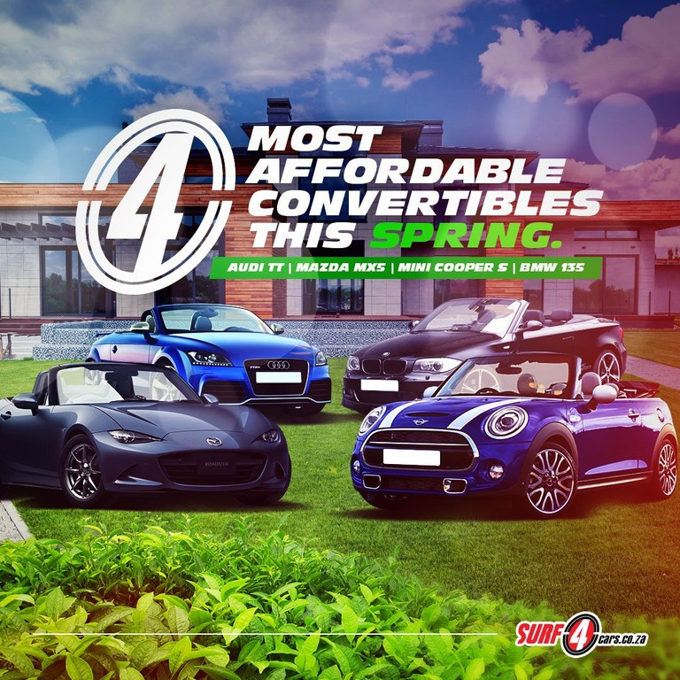 Four of the most exciting convertibles under R200K