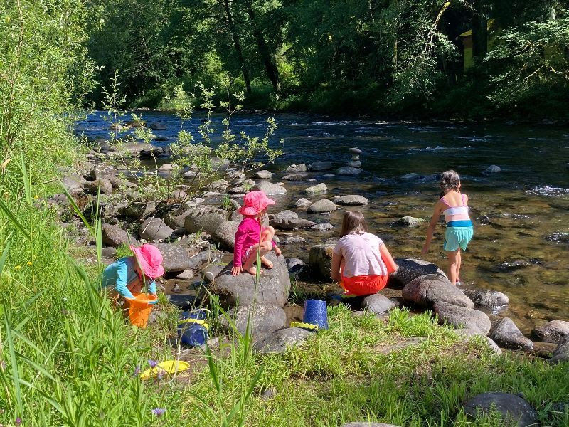 The Salmon River at Sanctuary Inn is so refreshing on warm summer days!