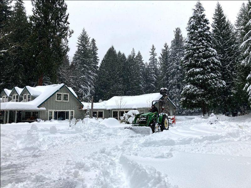 Twenty inches of snow fall at Sanctuary Inn