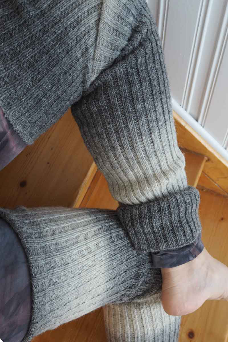 Leg warmers grey white - Wool clothes  4890a17a2af2e