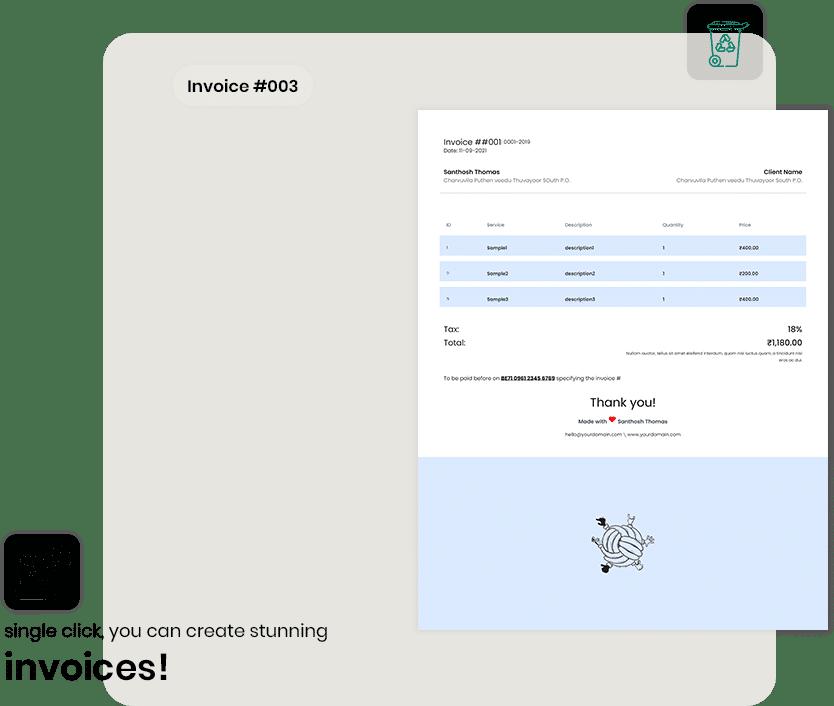 Billie Invoice Generator - Landing Image