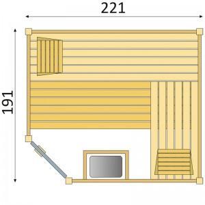 Binnensauna SK700 Hoekinstap