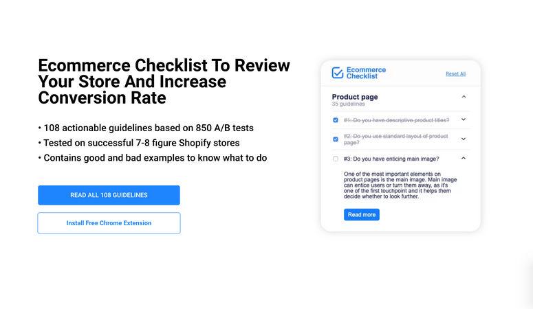 Ecommerce Conversion Checklist