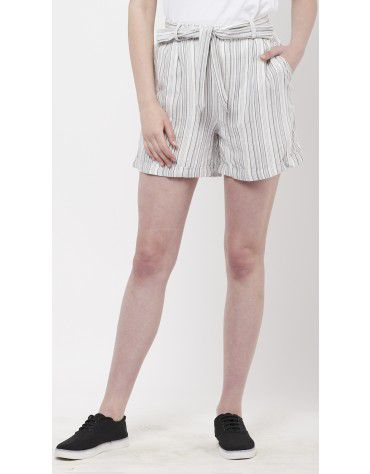 SbuyS - Tie Front Stripe Short