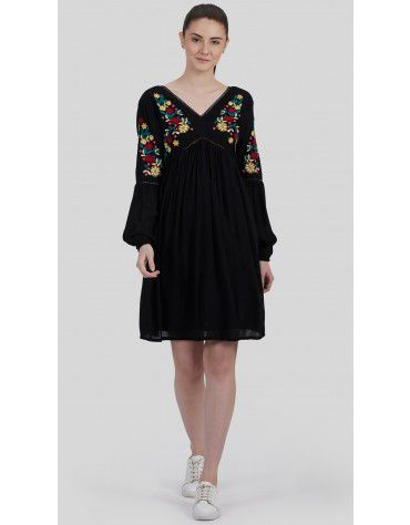 SbuyS - Floral Embroidered Midi Dress