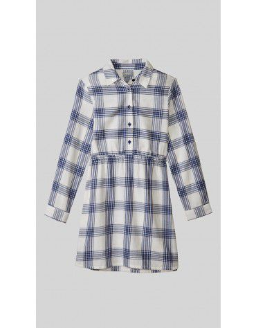 Beyond Clouds - Teen Girls Button Down Plaid Shirt Dress
