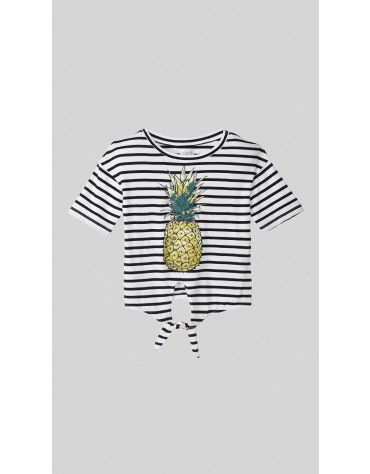 Beyond Clouds - Teen Girls Pineapple Print T-Shirt