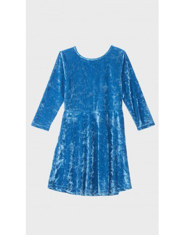 Beyond Clouds - Teen Girls Velvet Fit & Flare Dress